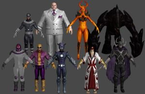 Villains VU Pack Marvel Heroes XNALara by Xelandis