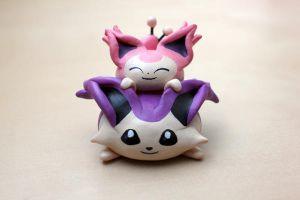 Skitty and Delcatty Chibi Tower