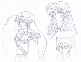 Sesshomaru...sketch 2 by sharon1412