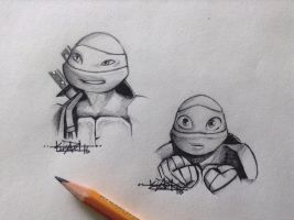 Turdle sketches  by kelly-drawsalot