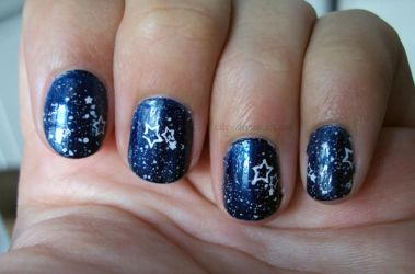 Starry Sky Nail Art By Talty On Deviantart