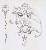 Chibi Sailor Pluto by MistyQue