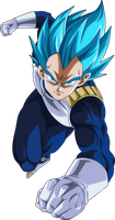 vegeta ssj blue full power by naironkr