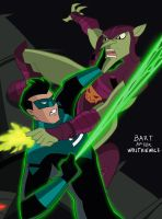 Green Lantern vs Green Goblin Animated Style  by Tyraknifesaurus