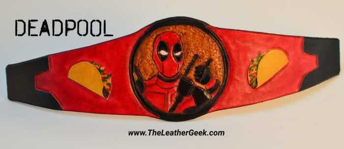 Deadpool leather cuff by CoreyChiev