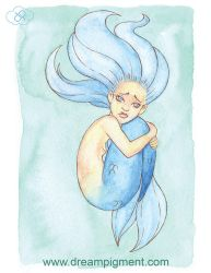 MerMay 2018: Day 28 - Lonely by DreamPigment