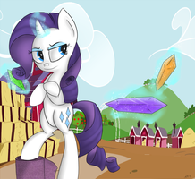 Rarity: Fighting Is Magic by 8-Blit-Poni