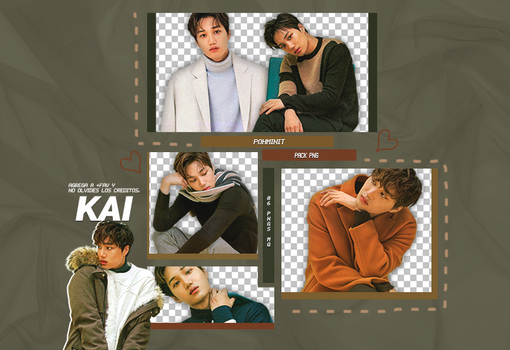+Pack Png EXO|Kai by Pohminit