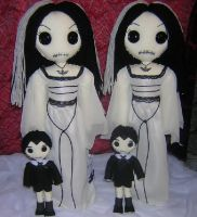 Lily Munster Rag Dolls by Zosomoto