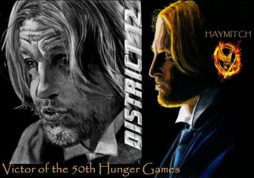 Hunger Games Haymitch by Catluckey