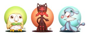 Gen Seven Starters by Phillippeaux