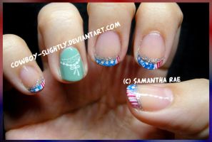 Memorial  Day French Tip by Cowboy-Slightly