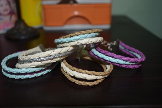Leather Bracelets by ghelalala