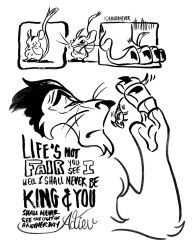 The Lion King // Life's Not Fair by adrawer4ever
