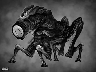 MONSTERMONTH No.2 - The Skulker by hubertspala