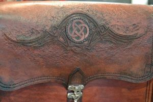 Messenger Bag Two-tooling by Blackthornleather