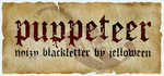 Font: PUPPETEER - free by jelloween