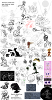 2015 Sketch WIP and New Character DUMP by CoffeeAddictedDragon