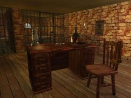 Western Jail Cell by TheSorceressRaven