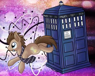 Doctor Whooves Desktop by LittlePinkAlpaca