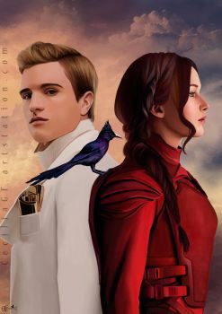 Commission - Peeta and Katniss (Hunger Games) by CeciliaGf