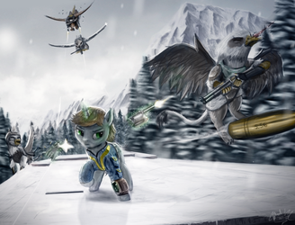 [Fallout Equestria] Arctic Heist by turbopower1000