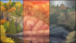 Autumn Forest Background Pack by AlphaStryx