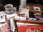My Watercolor Setup by THEVOMIST