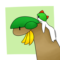 Tropius and Ralts
