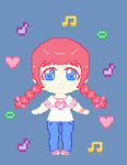 Pixel Akane Gift for ValChaon by Code-Commissions