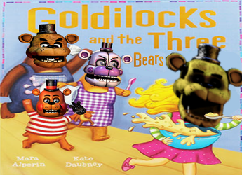 Golden Freddy Locks And The 3 Freddy's by Shinychicadee