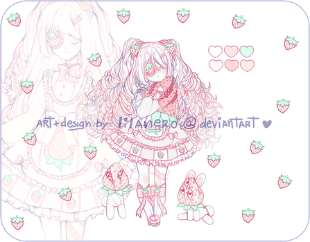 { strawberry lolita adoptable | CLOSED TYSM!!! } by lilanero
