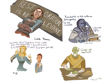 More mage college npcs by galaatear