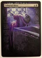 Unburial Rites - MTG Hand Painted Alter by b-o-m-p