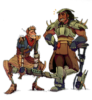 Machk and Poet all dressed up by Jackarais