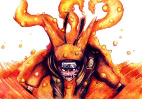 Kyubi Naruto 3 tails by Angy89