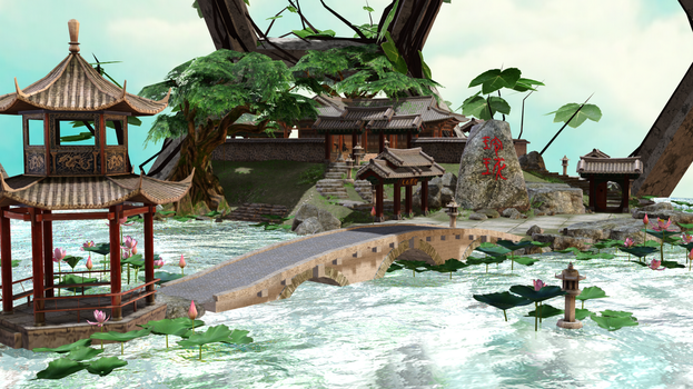 MMD STAGE Lotus Pond V1.00 DL!!! by samsink