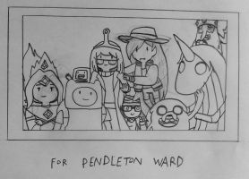 Adventure time Forever(UnColored) by hansungkee