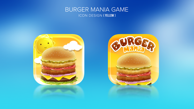 Burger making game icon design 02 by Dexign-Oxigen
