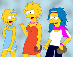 Maggie Lisa and Lucy by leif-j