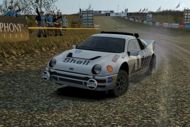 ford RS200 rally car by JoshuaCordova