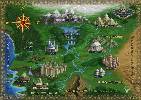 Land of Neves  map by amorphisss