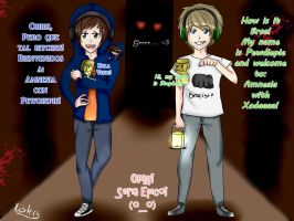Remake Drawing Pewdiepie and Xodaaaa! by JustFerfini