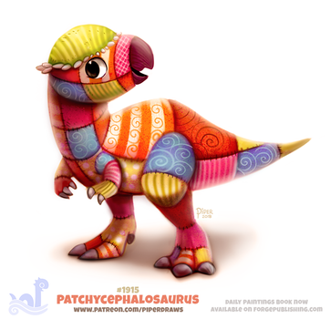 Daily Paint 1915# Patchycephalosaurus by Cryptid-Creations