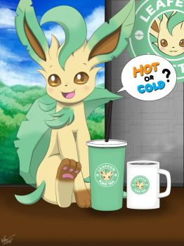 Hot or Cold? ( Leafeon ) by Winick-Lim