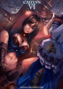 LOL - Caitlyn x Vi OFFICER by Braionss