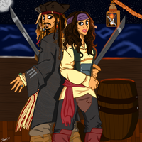 Jack and Juana Sparrow by sparrowscaribbean