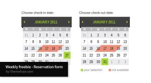Weekly freebie - Reservation by ThemeFuse