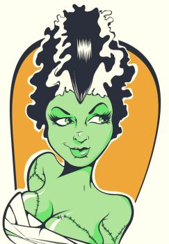 bride of frankenstein by skroowtape