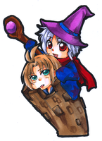 A Magician and His Tower by Inami